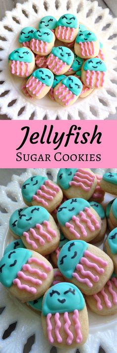 5 Dozen Jellyfish Mini Vanilla Sugar Cookies #affiliate