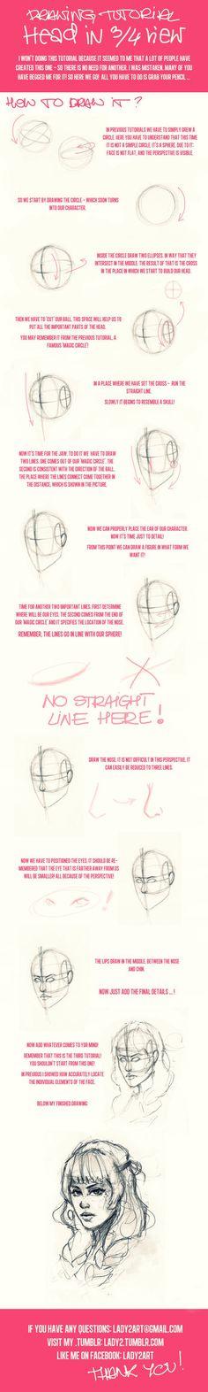 head_proportions_tutorial3. by Lady2 on deviantART via PinCG.com