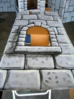 How to paint a castle wall