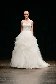 Spectacular Spring 2013 Wedding Dress Collection: Alvina Valenta | OneWed  Like the skirt!