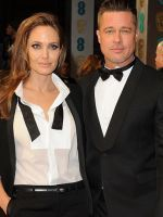 Angelina Jolie & Brad Pitt Stun In Matching Tuxedos At The BAFTAs #refinery29