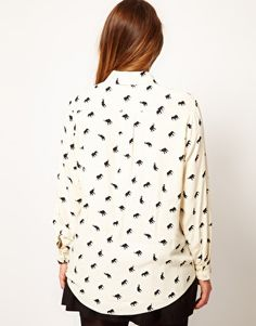 ASOS Curve | ASOS CURVE Exclusive Shirt In Elephant Print at ASOS - this shirt was made for me!