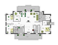 177 Klassinen Hailuoto — Design-Talo Bungalow, Energy Efficient Homes, Future House, Interior Architecture, Diy Home Decor, House Plans, Floor Plans, Flooring, How To Plan