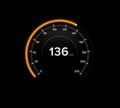Day 071 - Speedometer by Gavin de Koning App Ui Design, Interface Design, User Interface, Digital Dashboard, Dashboard Ui, Digital Watch Face, Electric Car Concept, Porche 911, Car App