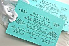 Tiffany-theme shower idea