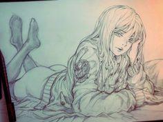 Cute by: Stato Ozo Character Sketches, Character Art, Character Design, Manga Art, Manga Anime, Anime Art, Cool Sketches, Cool Drawings, Figure Drawing