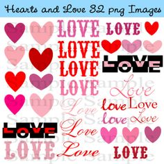 Heart Clipart INSTANT DOWNLOAD Valentine's Day by BridalBust, $4.00