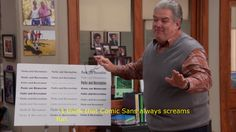 Parks And Recreation's Jerry Gergich Is The Most Annoying Person Ever He thinks Comic Sans is a cool font. Parks And Recs, History Of Television, In And Out Movie, Love Film, Comic Sans, Parks And Recreation, Best Shows Ever, Movie Quotes, Funny Posts