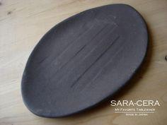 土物黒マット 楕円皿:A9752403:サラセラジャパン Yahoo!SHOP - Yahoo!ショッピング - ネットで通販、オンラインショッピング