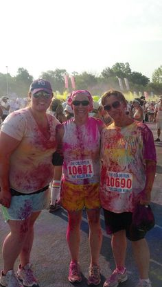 My daughter, 110 pounds ago, and myself (on the right) at a Color Run in Kansas City, in 2013.