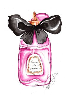 Hey, I found this really awesome Etsy listing at https://www.etsy.com/listing/223750746/fashion-illustration-perfume-bottle