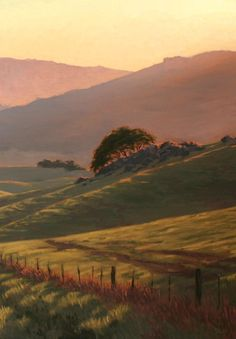 Norhern California Landscape painting, Chileno Valley Road, Marin County/Sonoma County, original landscape painting,  www.terrysauve.com