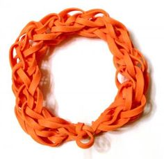 Orange Rubber Band Bracelet - Latex Free