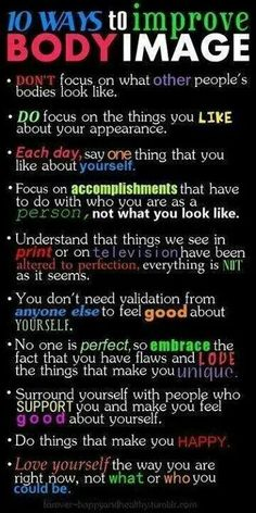 10 ways to improve your body image
