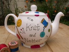 Laura Lee Designs giveaway: Treat your knitting group to a personalised teapot