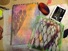 Art Journaling with Pan Pastels...I absolutely love Pan Pastels...if you have never tried them I recommend going to Dick Blick and ordering some...they are awesome to work with on a big page or just doing some shading..they are so verstatile.