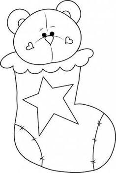 Christmas Bear 1 - Craft Pattern : Digi Scrap Kits - Quality Clip ...
