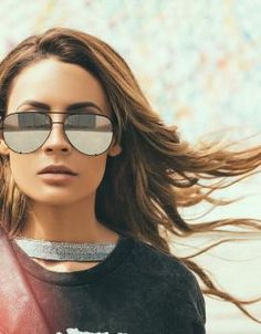 6235153b6e1 The High Key Sunglasses from Quay feature an over sized aviator design and  mirrored lenses for an on trend