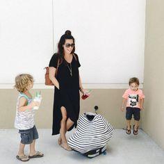 Mom fashion while br