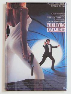 Living Daylights FRIDGE MAGNET movie poster james bond 007 timothy dalton
