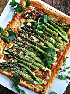 Roasted Asparagus, Bacon & Cheese Tart--This is super simple to make and very tasty--better at room temp than warm--Teree