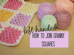 CROCHET LEFT HANDED: Joining granny squares for beginners   Bella Coco - YouTube