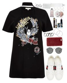 """Sin título #653"" by antoalvear on Polyvore featuring River Island, Gucci, Ray-Ban, Missguided, Lime Crime, Yves Saint Laurent, Guerlain, BOBBY, Seletti y Home Decorators Collection"