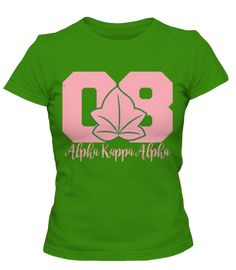 "The AKA Collegiate Tee is great shirt for sorors on a chill day or during the class week on the campus yard. #08 - 5.3 oz. 100% Cotton Pre-shrunk Jersey knit - Seamless double-needle feminine 1/2"" rib"