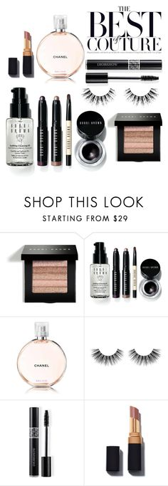 """""""Best of couture!"""" by rachelnero ❤ liked on Polyvore featuring beauty, Bobbi Brown Cosmetics, Chanel, Velour Lashes and Christian Dior"""