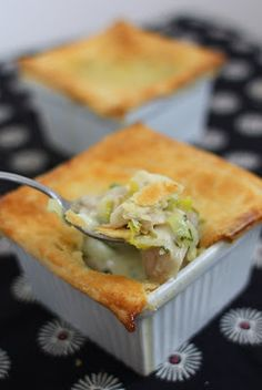 What's For Dinner? Individual Chicken Leek Pot Pies with Lemon and Tarragon.   It's feels natural to jump on the comfort food bandwagon in J...