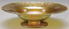 Tiffany Favrile glass pedestal bowl.