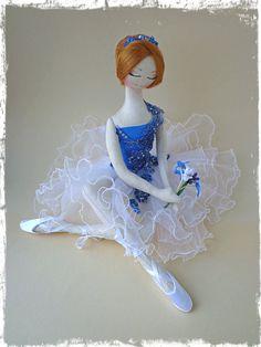 Интерьерная текстильная кукла by LilyDollsGifts on Etsy