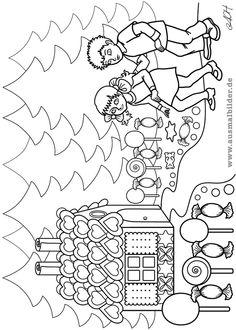 Ausmalbild Märchen: Sterntaler zum Ausmalen kostenlos