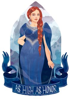 Lysa Arryn from A Song of Ice And Fire by George R. R. Martin. Illustration by Azim Al Ghussein.