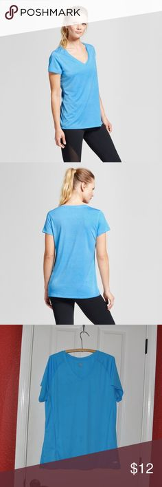New CHAMPION Hydro Blue V-Neck Tech T-Shirt [C4] The Women's V-neck Tech T-shirt from C9 Champion® is the upgrade to your favorite T. A V-neck and semi fit make this shirt perfect for everyday use. Wicking technology that dries fast make it ideal for the gym.  size XXL new without tags *spot on front from storage (see photos) color: hydro blue  Model wears size XS/S and is 5'8.5'' Duo Dry+™ technology wicks moisture and dries fast Comfort flat seams Semi-fitted  @cjrose25  Bundle your likes…