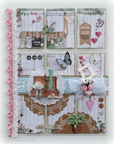 Pocket Letter Love & Home (Jenine's Card Ideas) Pocket Pal, Pocket Cards, Atc Cards, Journal Cards, Book Crafts, Paper Crafts, Project Life, Inchies, Pocket Scrapbooking
