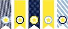 banner inspiration...would also look cute with nautical shapes inside the circles, like sailboats/oars/anchors/whales Echo Park: baby boy banner from Pride  Joy mini collection...Silhouette shape download