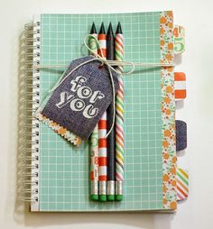 Cute Back to School Notebook! | Chickaniddy Crafts Leigh Penner
