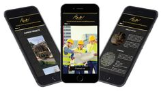 Deep Contractors #website effectively displays their services & portfolio whilst enhancing their #brand #identity http://www.foundrydigital.co.uk/projects/deep-contractors/