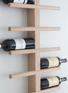 Woodstock Wall Mounted Wine Rack - Bed, Bath, Home & Travel from The Luxe Company UK Wine Rack Storage, Wine Rack Wall, Wood Wine Racks, Wine Wall, Wine Bottle Storage Ideas, Diy Wine Racks, Wine Rack Design, Woodstock, Wine Shelves