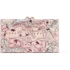 Charlotte Olympia - Pandora Printed Perspex Box Clutch (1.540 BRL) ❤ liked on Polyvore featuring bags, handbags, clutches, multi, clear lucite purse, hard clutch, retro handbags, pink clutches and pouch purse