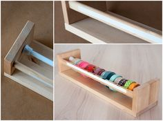 x4duros.com: DIY Antes y Después '13: Dispensador de Washi tape de Lanukas