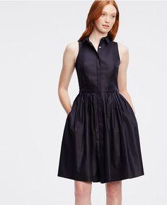 Thumbnail Image of Color Swatch 1246 Image of Sleeveless Shirtdress