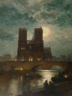 Notre Dame de Paris by Edward Moran, ca. 1878 (One of my very favorite places.)