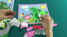 Applique work Peppa Pig. Let's make application where George the knight ...