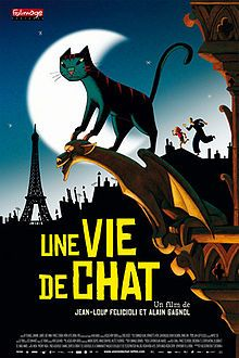 Cat in Paris (Une vie de chat) is a 2010 French animated comedy film by the French animation studio Folimage, telling the story of a young Parisian girl whose cat leads her to unravel a thrilling mystery over the course of a single evening. The film was directed by Alain Gagnol and Jean-Loup Felicioli.