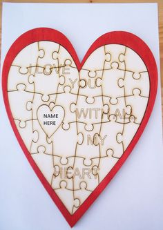 Valentines Heart Jigsaw. Can be personalised Available Online To Buy From Crab Pot Model Shop For A Great Deal On Valentines Heart Jigsaw. Can be personalised Or Any Other Unique Handmade Craft Gifts And Creative Gift Ideas Visit Stallandcraftcollective.co.uk #4550