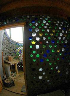 bottle walls--interesting potential for lighting