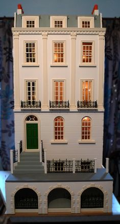 Small Time also make wonderful furniture and clocks - click through to site. Victorian Dolls, Victorian Dollhouse, Modern Dollhouse, Diy Dollhouse, Dollhouse Furniture, Miniature Houses, Miniature Dolls, Diy Doll Miniatures, Doll House Plans