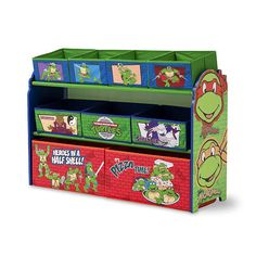 "Teenage Mutant Ninja Turtle Deluxe 9-Bin Toy Organizer - Delta - Toys ""R"" Us"
